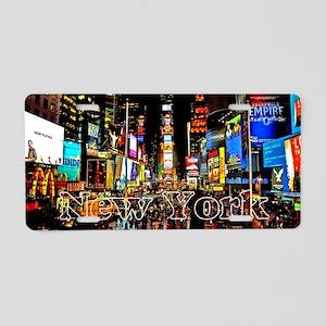 NY_5x3rect_sticker_TimesSqu Aluminum License Plate