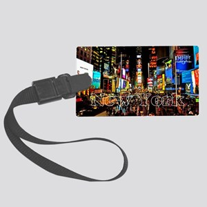 NY_5x3rect_sticker_TimesSquare Large Luggage Tag