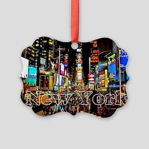 NY_5x3rect_sticker_TimesSquare Picture Ornament