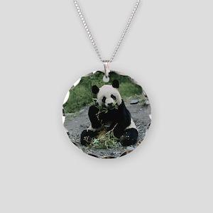 Cute Panda Necklace Circle Charm
