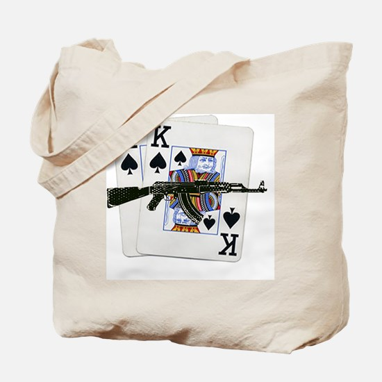 Ace King Spades with AK 47 Tote Bag