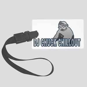 DJ Chuck Chillout Logo Large Luggage Tag
