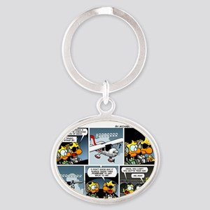 2L0027 - Cessna 3BT stand by! Oval Keychain