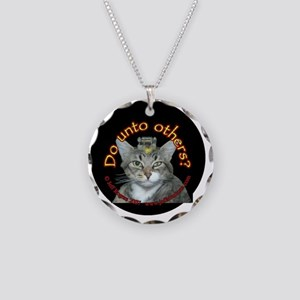 Do Unto Others - cats Necklace Circle Charm
