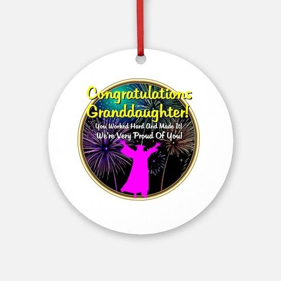 Graduation: 0003f Round Ornament