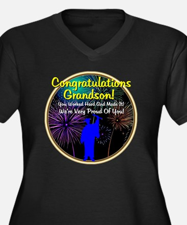 Graduation:  Women's Plus Size Dark V-Neck T-Shirt