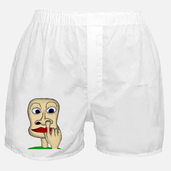 finger up the nose 10x10 Boxer Shorts