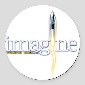 imagine Round Car Magnet
