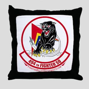 494th_Fighter_Squadron_WHT Throw Pillow