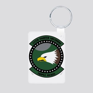 555th Fighter Squadron Aluminum Photo Keychain