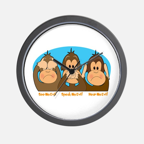 See,Speak,Hear No Evil Wall Clock