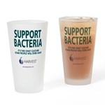 Support Bacteria (Teal) Drinking Glass