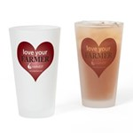 Love Your Farmer Drinking Glass