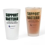 Support Bacteria (Bold) Drinking Glass