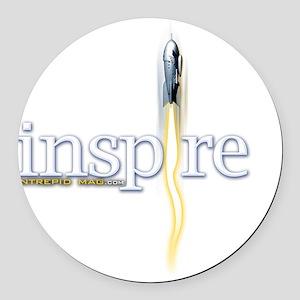 inspire Round Car Magnet