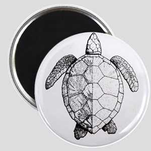 Sea Turtle drawing Magnet