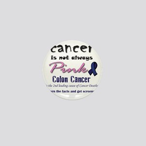 Colon Cancer - Also not pink! Mini Button