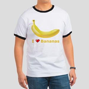 I Love Banana Ringer T