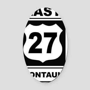 East 27 Montauk Oval Car Magnet