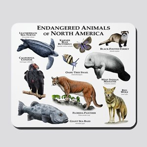 Endangered Animals of North America Mousepad