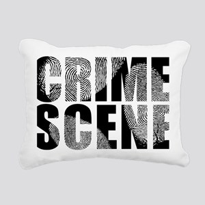 Crime Scene Finger Print Rectangular Canvas Pillow
