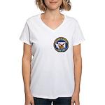 USS HENRY M. JACKSON Women's V-Neck T-Shirt