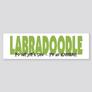 Labradoodle IT'S AN ADVENTURE Bumper Sticker