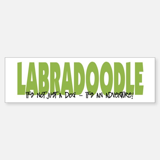 Labradoodle IT'S AN ADVENTURE Bumper Bumper Bumper Sticker