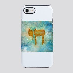 JEWISH HEBREW LETTER L'CHAYIM iPhone 7 Tough C