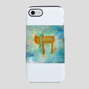 JEWISH HEBREW LETTER L'CHAYIM iPhone 7 Tough C