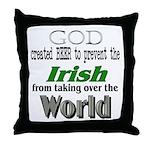 God, The Irish & Beer Throw Pillow
