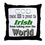 God, The Irish & Beer Throw Pillow