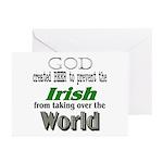 God, The Irish & Beer Greeting Cards (Pk of 10
