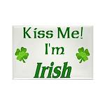 Kiss Me I'm Irish Rectangle Magnet