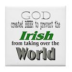 God, The Irish & Beer Tile Coaster