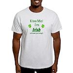 Kiss Me I'm Irish Light T-Shirt