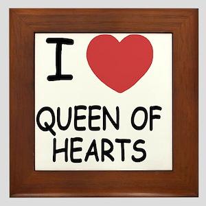 QUEEN_OF_HEARTS Framed Tile