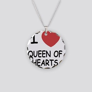 QUEEN_OF_HEARTS Necklace Circle Charm