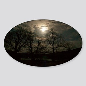 Night Over The Herriman Sticker (Oval)