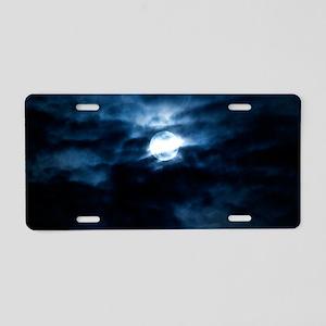 Blue moon Aluminum License Plate