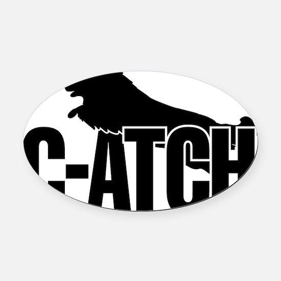 C-ATCH Sheltie Oval Car Magnet