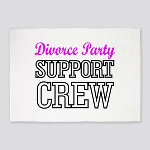 Divorce party support crew 5'x7'Area Rug