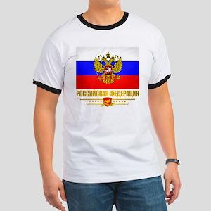 Russian Flag  COA Ringer T