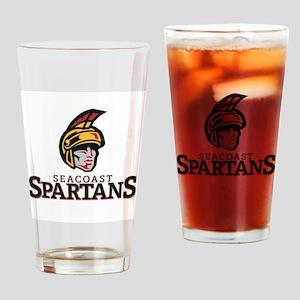Seacoast Spartans logo-03 Drinking Glass