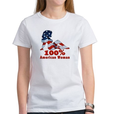 100% American Woman Women's T-Shirt