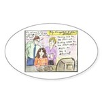 Thinking Outside the Box Oval Sticker