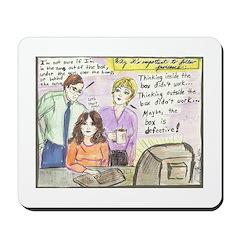 Thinking Outside the Box Mousepad