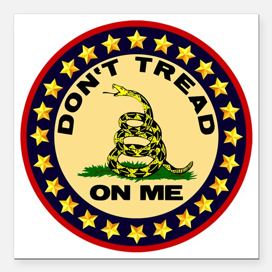 """Dont Tread On Me Square Car Magnet 3"""" x 3"""""""