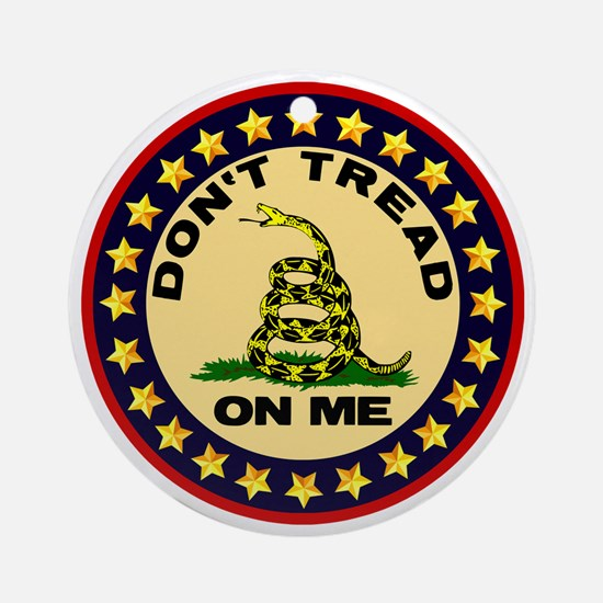 Dont Tread On Me Round Ornament