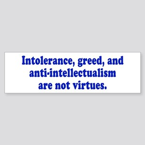 VIRTUES Bumper Sticker